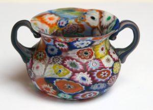 19. sajandi lõpul Veneetsias valmistatud millefioritehnikas vaas.