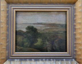 Grigori Tšernetsov. Vaade mererannale Pirita kloostriga. 1827 õli, paber