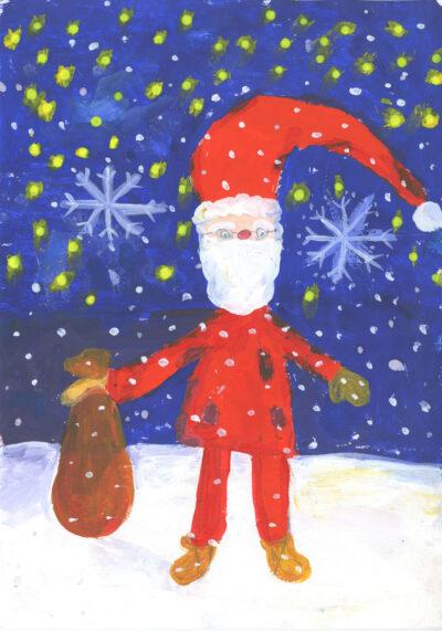 Laste jõulupiltide näitus Kotzebue 16 piirdeaial kuni 15.01.21.