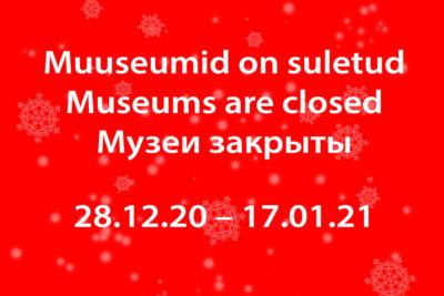 <b>Tallinna Linnamuuseumi filiaalid on kuni 17.01 suletud. Meeleolukaid hetki seniks meie veebimuuseumis!</b>: